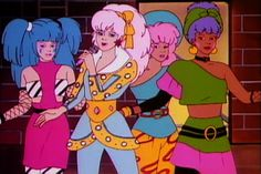 Jem and the Holograms - I used to wake up really early on school days to watch this crappy cartoon :)