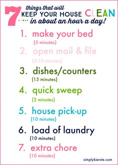 An hour is all you need to keep your house clean, when you do these 7 things every day!