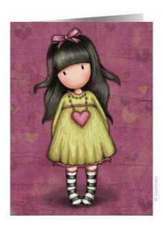 Browse all our Gorjuss Girls by Santoro London. Including dolls, bags, cards, arts & crafts & more. 3d Cards, Pop Up Cards, Little Doll, Little Girls, Art Mignon, Santoro London, Swing Card, Stationery Set, Cute Images