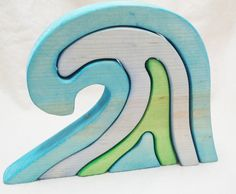 Wooden Wave Stacking Puzzle // In Stock Ready by SimpleGiftsToys, $17.00