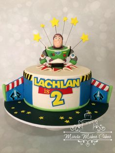 Mardie Makes Cakes Cairns Bolo Toy Story, Toy Story Cakes, Toy Story Birthday, Toy Story Party, 4th Birthday, Birthday Ideas, 1 Tier Cake, 1st Bday Cake, Birthday Cakes