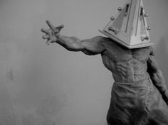 pyramid head from silent hill, sculptured with supersculpey by campionistudio on deviantART Silent Hill Video Game, Pyramid Head, Sculpture, Sci Fi Art, Creepy, Art Gallery, The Incredibles, Deviantart, Artist