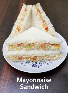 Mayonnaise Sandwich is a recipe of kids snack in hindi & english with step to step directions with photos and recipe video,tips & variation recipes for two recipes fry recipes Sandwich Recipes For Kids, Vegetarian Sandwich Recipes, Veg Sandwich, Lunch Box Recipes, Toast Sandwich, Quick Sandwich, Bread Sandwich Recipes, Bread Sandwich Recipe Indian, Salad Recipes