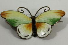 Marius Hammer Vintage Sterling Silver Guilloche Butterfly Moth Pin Brooch 15g | eBay