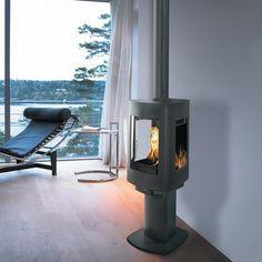 Poêle à bois scandinave