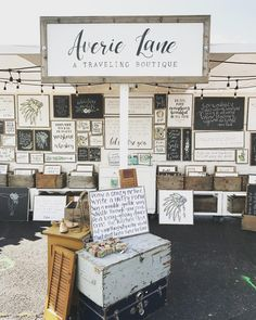 """218 Likes, 26 Comments - Amber Koogler - Artist+Blogger (@averielaneblog) on Instagram: """"New booth went together like butter ...and the new sign isn't bad either  #averielaneboutique…"""""""