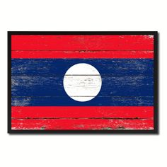 LAOS Street Sign Lao Laotian flag city country road wall gift VIENTIANE