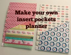 DIY Make your own insert pockets for your planners!! by SaCrafters :How to:Tutorial How to make a Planner with your Cricut Explore;https://www.youtube.com/wa...