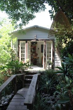 I'd have a shed in the backyard just for a writing studio.