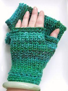 Patina's Lost Mitts Handmade Crochet Item by PandiasJewels on Etsy, $50.00