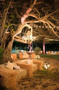 Hay bale furniture! Maybe for pre wedding BBQ?