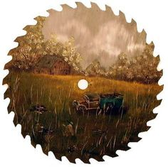 Learn How to Start Saw Blade Painting