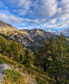 Mountains of Greece-Path to the top of Olympus mountain in Greece