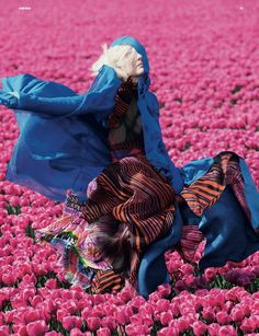 """Lisanne de Jong in """"In Bloom"""" photographed by Viviane Sassen and styled by Katie Shillingford for Dazed & Confused July 2011."""