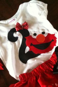 Elmo inspired birthday. Elmo shirt by Classyritzybabies on Etsy, $24.50
