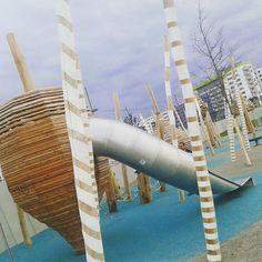 Seestadt Aspern - Spielplatz, 1220 Wien Fair Grounds, Architecture, Building, Instagram Posts, Fun, Travel, Playground, City, Voyage