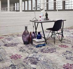 Geef jouw #interieur een persoonlijke touch met de expressieve kleuren uit de #Vintage #tapijtcollectie.