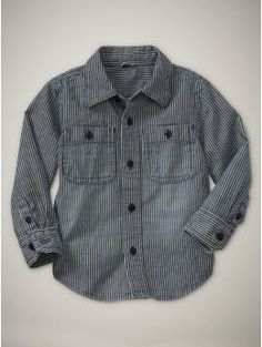 railroad stripe shirt (Gap)