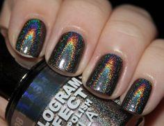 Hologram Nails - Flash Black