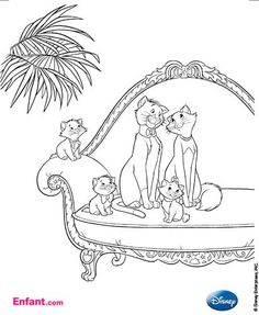 Duchess and kittens coloring page. Disney\'s Aristocats | School ...