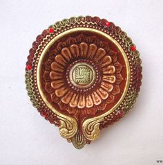 Diya Terracotta Big Candle Holder Tea Light Holder Pot Pourri Decorative Bowls Home Decor Indian Handicraft Home and Living from India Diya Decoration Ideas, Diy Diwali Decorations, Flower Decorations, Wedding Decorations, Diya Designs, Rangoli Designs, Diwali Craft, Diwali Diya, Decorative Items
