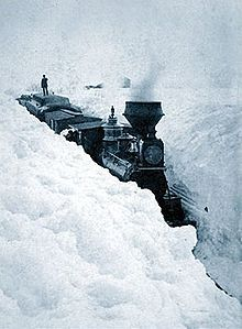 The Snow Winter - 1880-81 - On March 29, 1881, snowdrifts in Minnesota were higher than locomotives.
