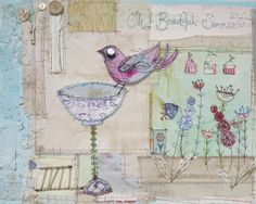 Bird with Bath by Priscilla Jones