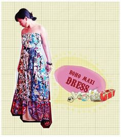 tutorial: how to sew a boho maxi dress. This looks incredibly easy; I'm SO making it! :)