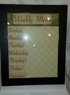 Weekly Menu (dry erase)
