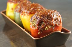 Easy Stuffed Peppers |SouthernBite.com #stuffed peppers
