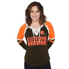Cleveland Browns Touch by Alyssa Milano Women's Fumble Recovery Long Sleeve T-Shirt - Brown