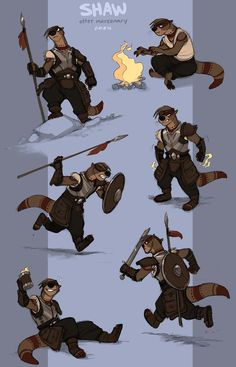 commission - Shaw by Kobb.deviantart.com on @deviantART Here's a commission for jack07!  Shaw here is a tough otter lady (and closet pyromancer) who isn't going to take your garbage. She was pretty dang fun to draw!