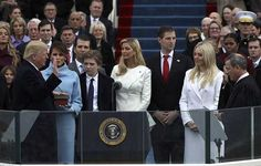 At noon on Friday, Donald Trump was sworn into office by Chief Justice John Roberts on the steps of the United States Capitol Building. Donald Trump Jr, Donald Jr, Eric Trump, John Trump, American Presidents, American History, Madonna, Revolution, Princesses