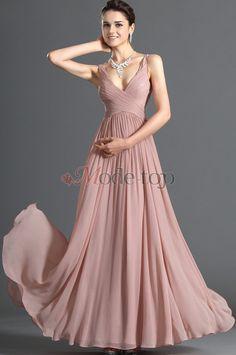 Ärmellos Chiffon natürliche Taile Elegantes Abendkleid/ Ballkleid - Mode-Top