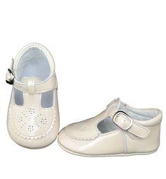Ivory t-bar patent leather shoes - shoes - babymaC - Stylish Spanish baby clothes - 1