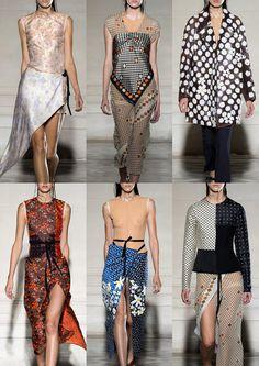 Paris Womenswear Print Highlights Part 2 – Spring/Summer 2015 catwalks  maison martin margiela
