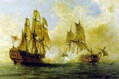 El Glorioso combate contra el HMS Darmouth. Museo Naval de Madrid