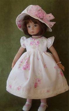 "Pink Flowers Dress Hat Slip Stockings etc for 13"" Effner Little Darlin | eBay. Ends 5/3/14. Sold for $87.68."