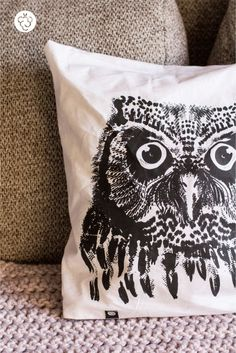 Pillowcase - Owl - Malinowe Cacko by MalinoweCacko on Etsy