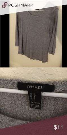 Forever 21 knit top Perfect condition. No flaws. 3/4 sleeve                                     Tags: forever 21, Victoria's Secret Forever 21 Tops Tees - Long Sleeve