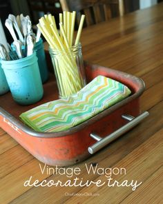 Turn an old Wagon into a Multipurpose Tray