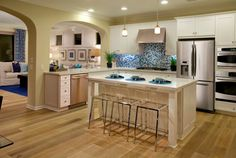 Another beautiful #kitchen at Campanilla by Taylor Morrison. This time it's Residence Two of the Artisan Collection. — at #Campanilla by Taylor Morrison. #SanJuanCapistrano #newhome