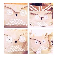 owl clutch bag diy