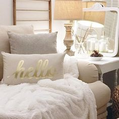 Hello from the comfy side (of the couch) [: Pinterest Contributor; @foxhollowcottage]  #bestseatinthehouse #MakeHomeYours by homegoods