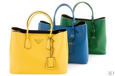 Prada's leather Saffiano tote is the epitome of effortless style, with two interior pockets for easy organization