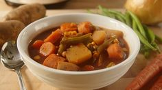 This is old-fashioned slow cooker vegetable soup at its best. Combine ingredients in the morning and come home to a delicious meal. Find out how to make it.