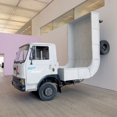 Truck (2005)artist Erwin Wurm (born 1954) is an Austrian artist born in Bruck is known for his humorous approach to formalism