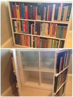 This Clever Project Takes An IKEA Shelving Unit And Adds A False Front That  Looks Like