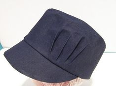 Cap pleated detail hat SEWING PATTERN medium size sewing