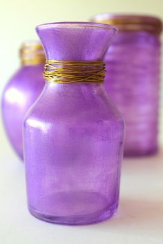 Radiant Orchid Inspiration - Homemade Glass Paint -- How to make your own glass paint